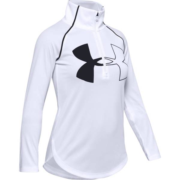 Under Armour Girls' Tech Graphic Big Logo ½ Zip Pullover product image