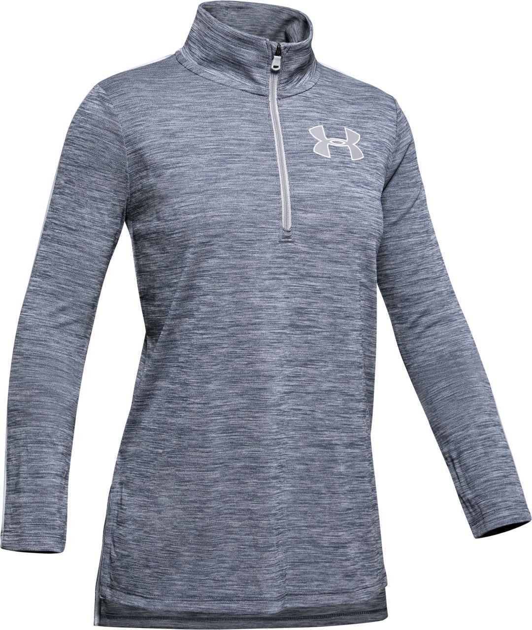 01516c4ff1 Under Armour Girl's Tech ½ Zip Long Sleeve Shirt