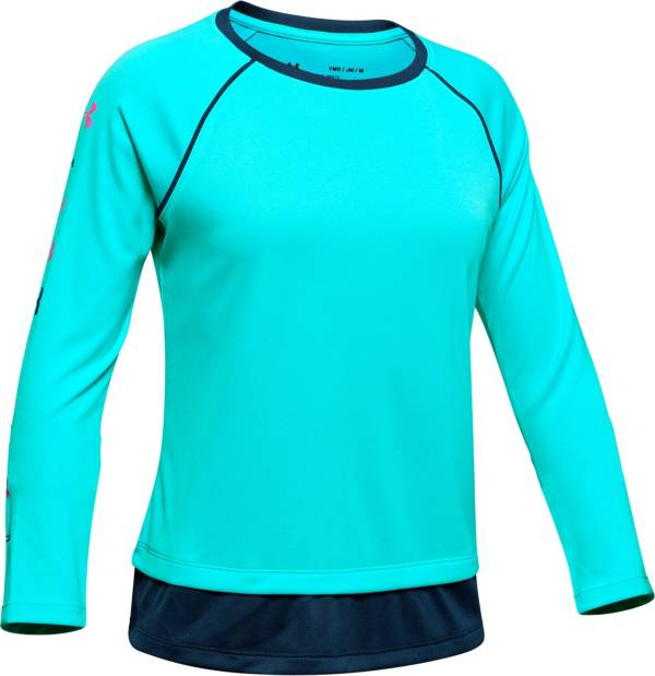Under Armour Girl's Tech Crewneck Sweatshirt product image