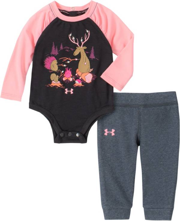 Under Armour Infant Girls' Camp Fire Friends Onesie and Pants Set product image