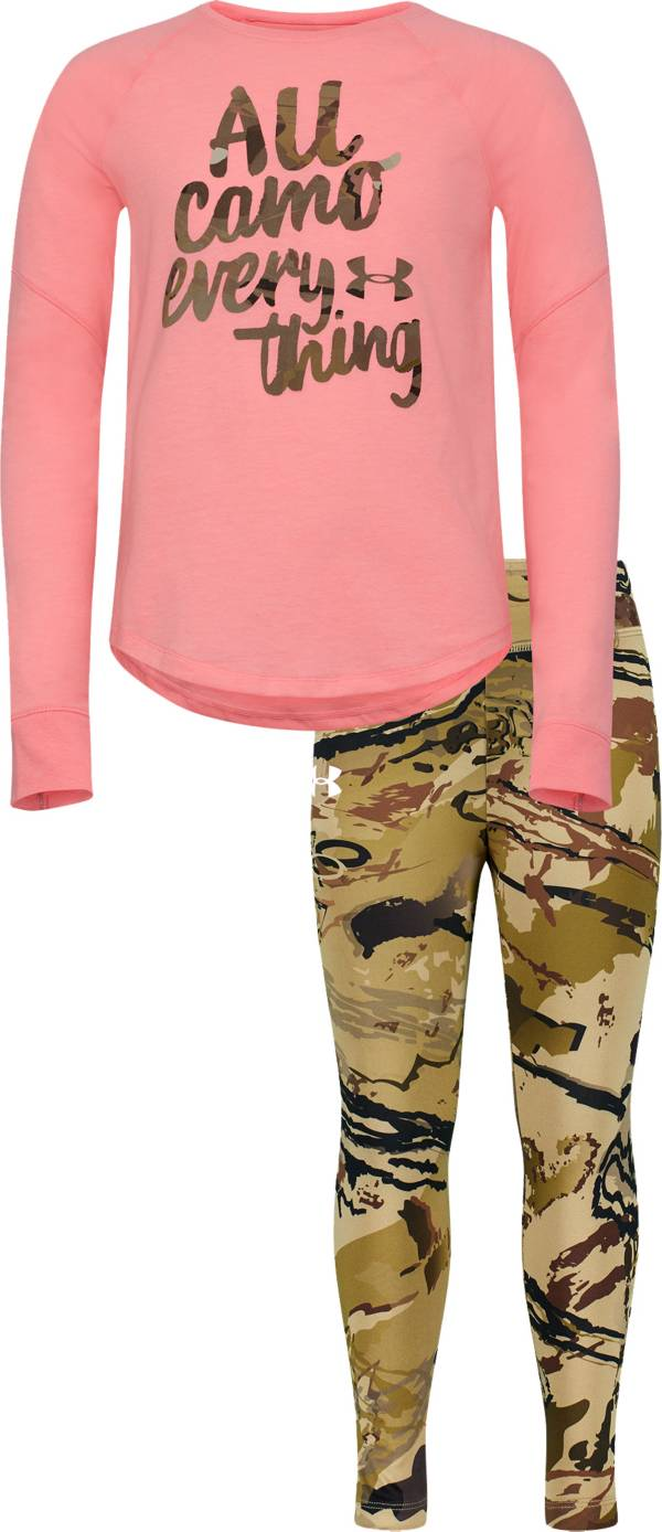 Under Armour Infant Girls' All Camo Everything T-Shirt and Pants Set product image