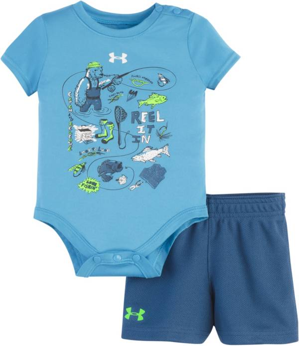 Under Armour  Infant Boy's Reel It In 2-Piece Onesie and Shorts Set product image