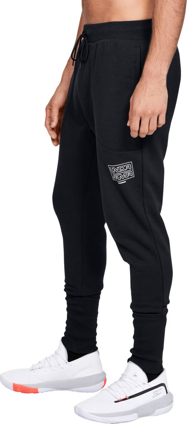 Under Armour Men's Baseline Fleece Basketball Jogger Pants (Regular and Big & Tall) product image