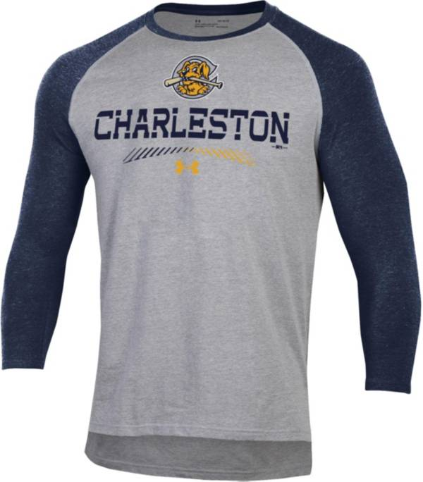 Under Armour Men's Charleston River Dogs Navy Raglan Three-Quarter Sleeve Shirt product image
