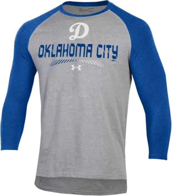 Under Armour Men's Oklahoma City Dodgers Royal Raglan Three-Quarter Sleeve T-Shirt product image