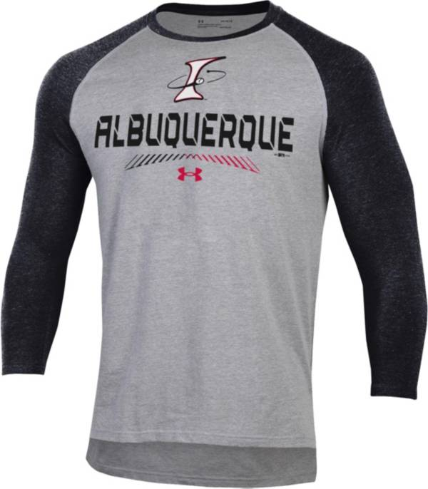 Under Armour Men's Albuquerque Isotopes Black Raglan Three-Quarter Sleeve T-Shirt product image