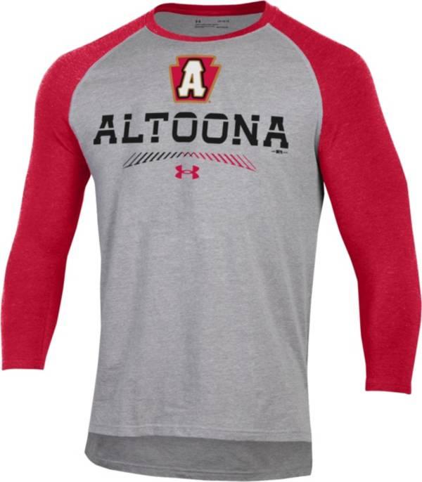 Under Armour Men's Altoona Curve Red Raglan Three-Quarter Sleeve T-Shirt product image