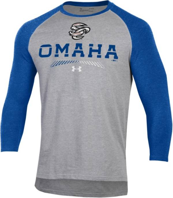 Under Armour Men's Omaha Storm Chasers Royal Raglan Three-Quarter Sleeve Shirt product image