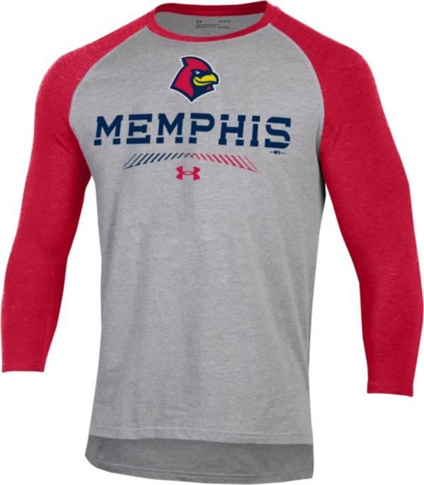 Under Armour Men's Memphis Redbirds Red Raglan Three-Quarter Sleeve Shirt product image