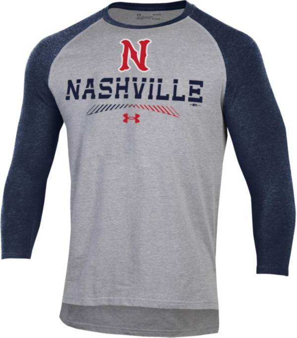 Under Armour Men's Nashville Sounds Navy Raglan Three-Quarter Sleeve Shirt product image