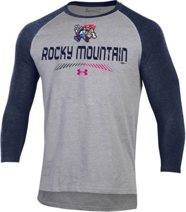 Under Armour Men's Rocky Mountain Vibes Navy Raglan Three-Quarter Sleeve T-Shirt product image