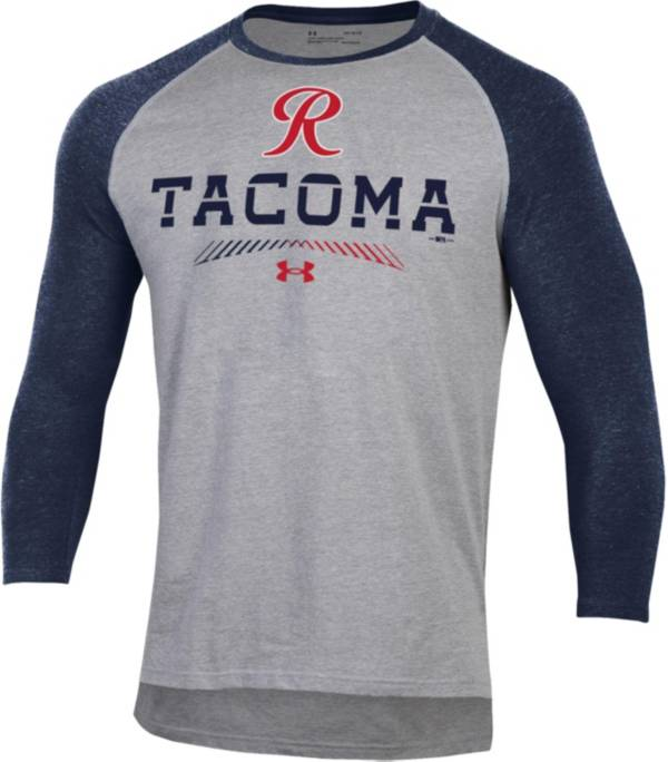 Under Armour Men's Tacoma Rainiers Navy Raglan Three-Quarter Sleeve Shirt product image