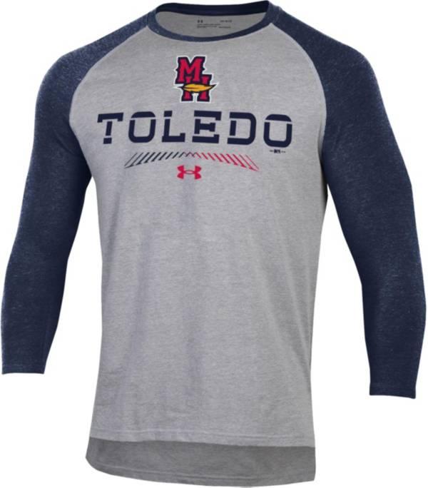 Under Armour Men's Toledo Mud Hens Navy Raglan Three-Quarter Sleeve T-Shirt product image
