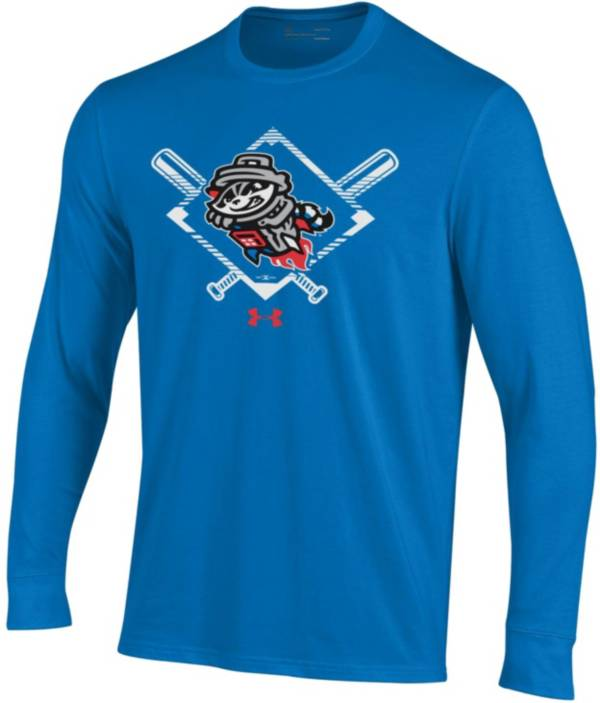 Under Armour Men's Rocket City Trash Pandas Blue Long Sleeve Tech Performance T-Shirt product image