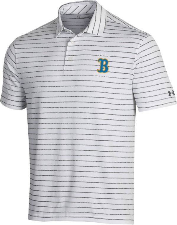 Under Armour Men's UCLA Bruins Playoff Tour Striped White Polo product image