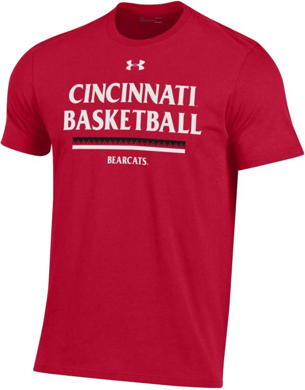 Under Armour Men's Cincinnati Bearcats Red Performance Cotton On-Court Basketball T-Shirt product image