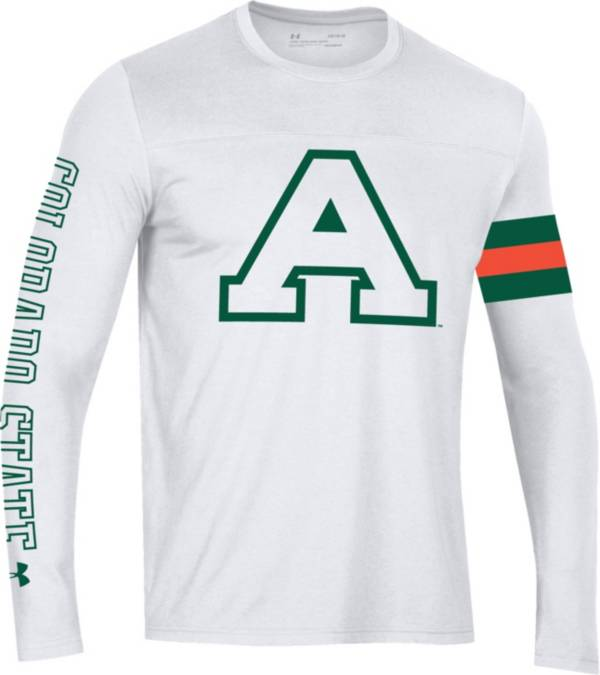Under Armour Men's Colorado State Rams Performance Cotton Long Sleeve White T-Shirt product image