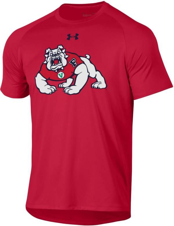 Under Armour Men's Fresno State Bulldogs Cardinal Tech Performance T-Shirt product image