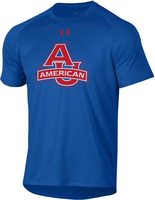 Under Armour Men's American University Eagles Blue Tech Performance T-Shirt product image