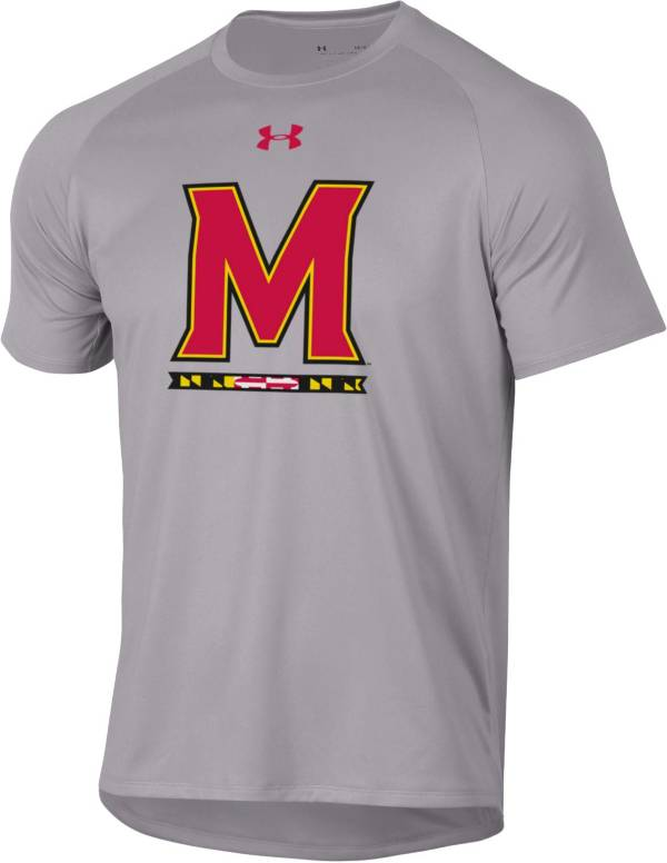 Under Armour Men's Maryland Terrapins Grey Tech Performance T-Shirt product image