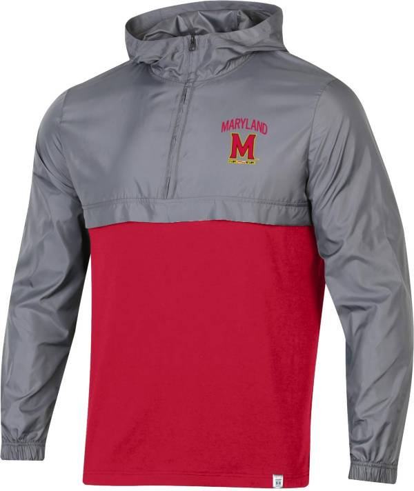 Under Armour Men's Maryland Terrapins Grey Sportstyle Woven Quarter-Zip Jacket product image