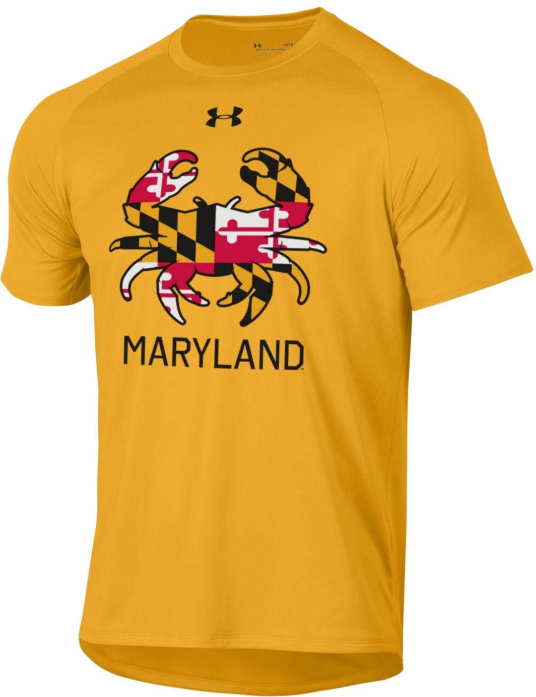 b65e9b40 Under Armour Men's Maryland Terrapins Gold 'Maryland Pride' Tech  Performance T-Shirt