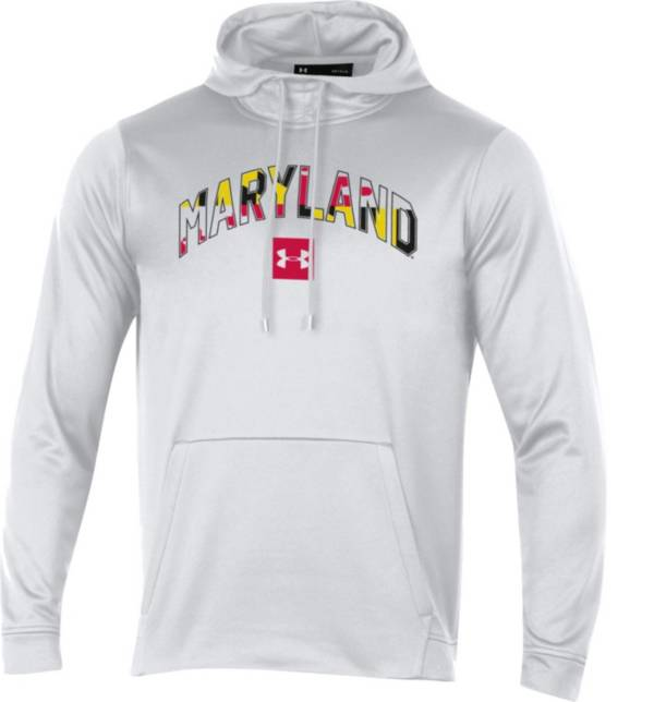 Under Armour Men's Maryland Terrapins 'Maryland Pride' Armourfleece Pullover White Hoodie product image