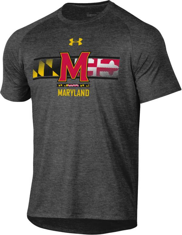 Under Armour Men's Maryland Terrapins Grey 'Maryland Pride' Tech Performance T-Shirt product image