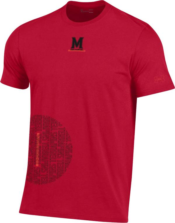 Under Armour Men's Maryland Terrapins Red Hype Side Circle Performance Cotton Basketball T-Shirt product image