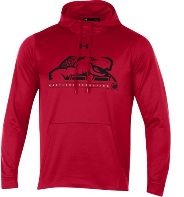 Under Armour Men's Maryland Terrapins Red Armourfleece Pullover Hoodie product image