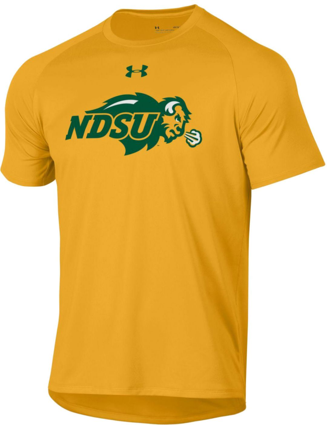 c94e8e1f72 Under Armour Men's North Dakota State Bison Yellow Tech Performance T-Shirt