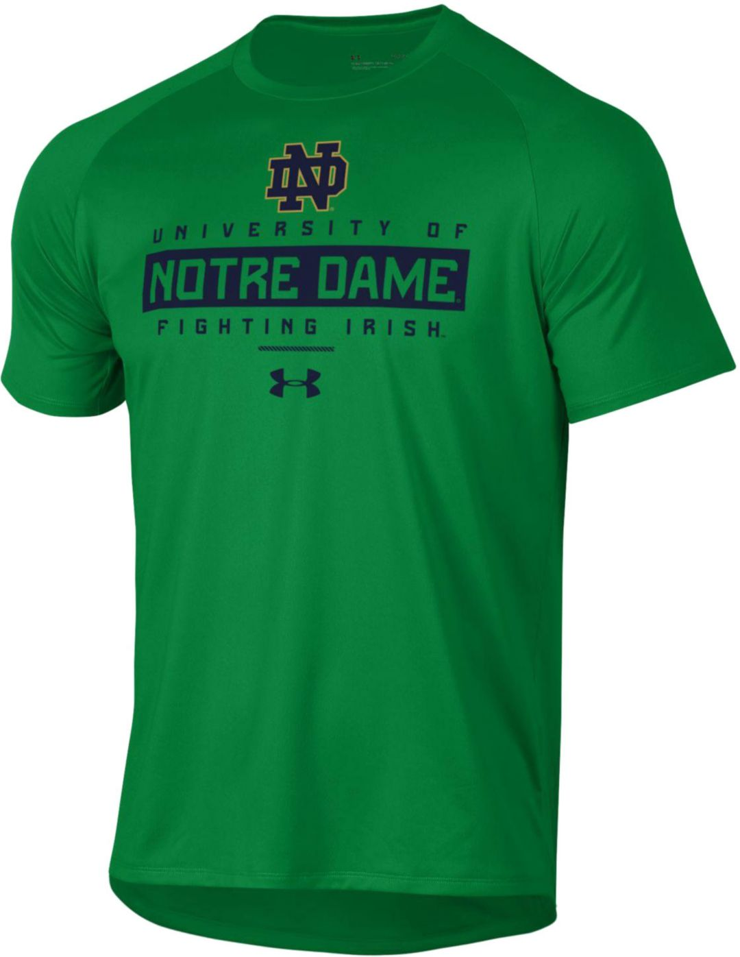 sneakers for cheap 010ed 1afad Under Armour Men's Notre Dame Fighting Irish Green Tech Performance T-Shirt