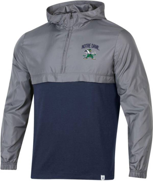 Under Armour Men's Notre Dame Fighting Irish Grey Sportstyle Woven Quarter-Zip Jacket product image