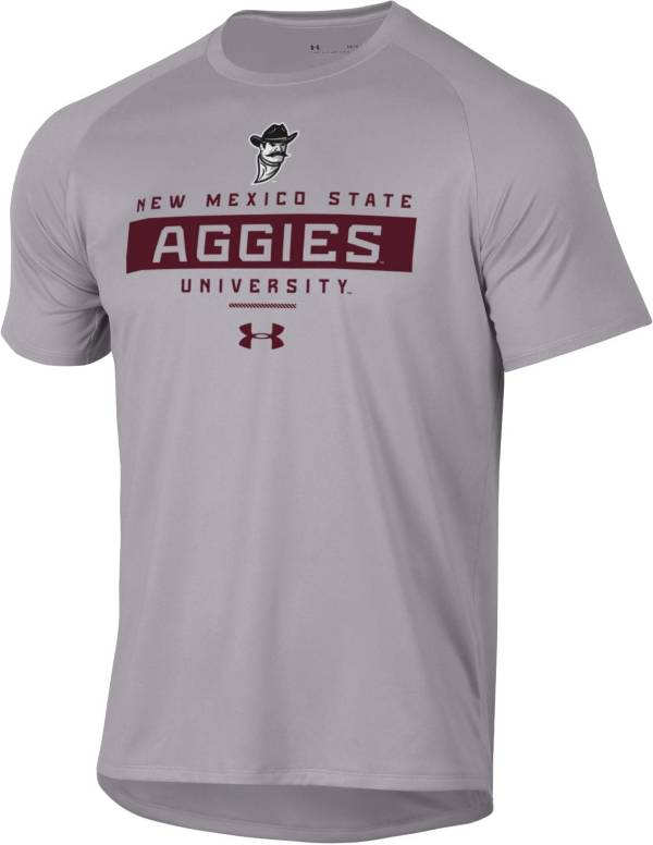 Under Armour Men's New Mexico State Aggies Grey Tech Performance T-Shirt product image