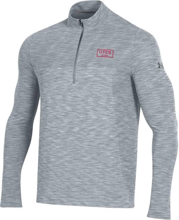 Under Armour Men's Utah Utes Grey Vanish Quarter-Zip Shirt product image