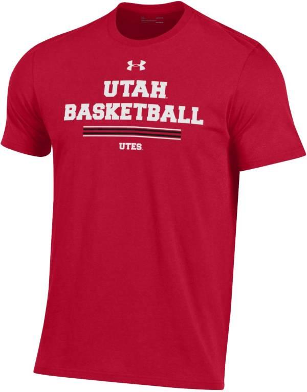 Under Armour Men's Utah Utes Crimson Performance Cotton On-Court Basketball T-Shirt product image