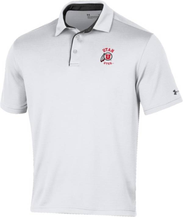 Under Armour Men's Utah Utes Tech White Polo product image