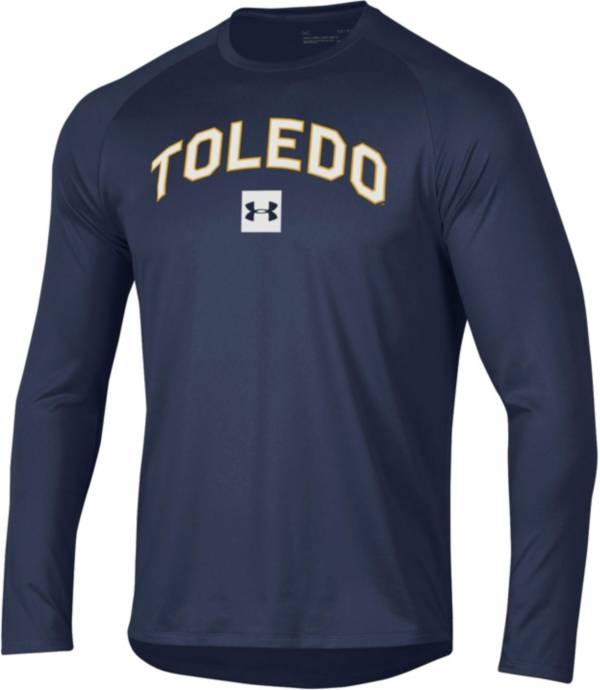 Under Armour Men's Toledo Rockets Midnight Blue Long Sleeve Tech Performance T-Shirt product image