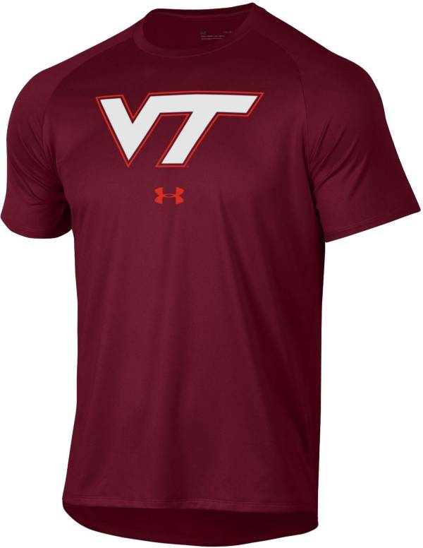 Under Armour Men's Virginia Tech Hokies Maroon Tech Performance T-Shirt product image