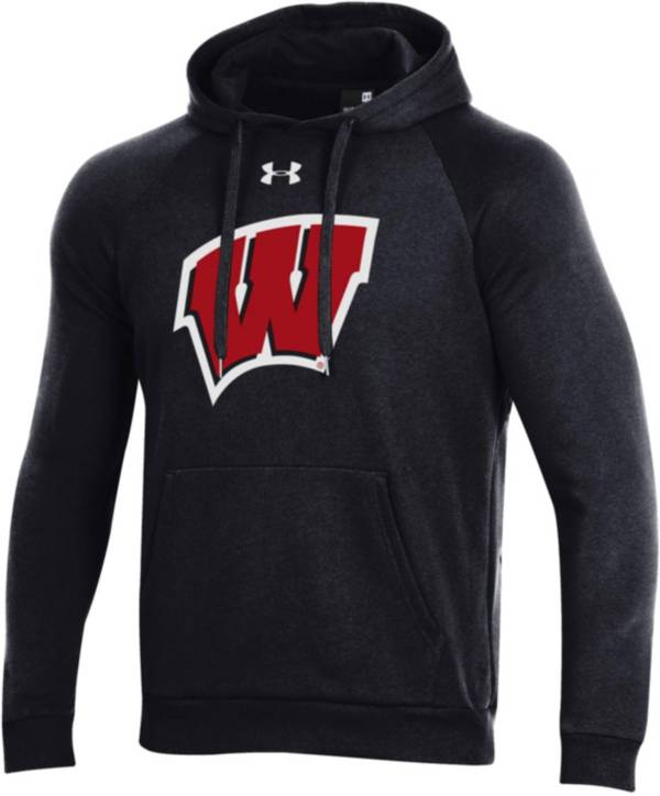 Under Armour Men's Wisconsin Badgers All Day Black Hoodie product image