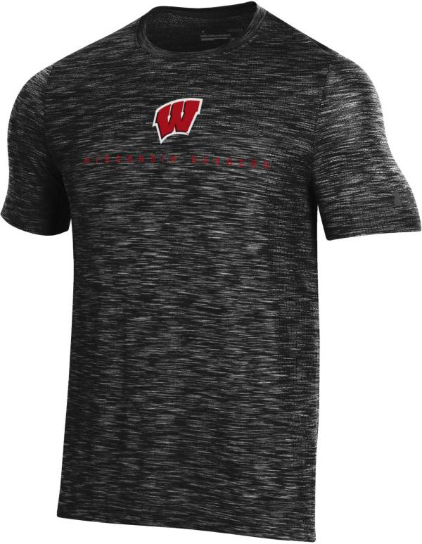 Under Armour Men's Wisconsin Badgers Vanish Performance Black T-Shirt product image