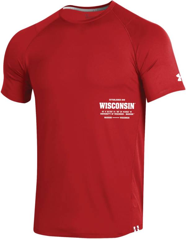 Under Armour Men's Wisconsin Badgers Red Coordinates MK1 Sideline T-Shirt product image