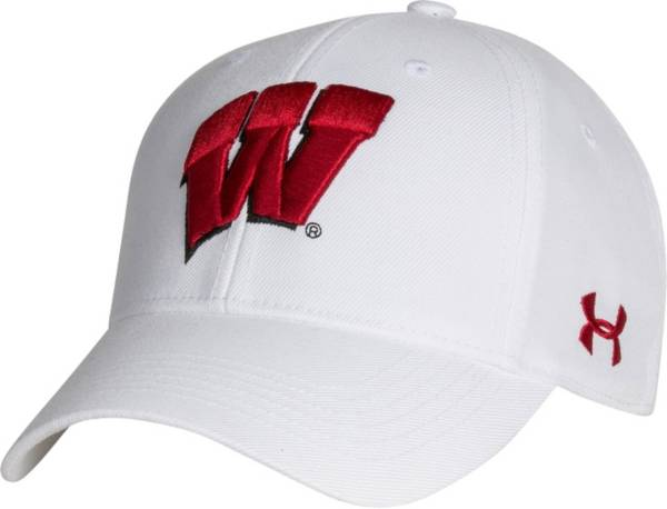 Under Armour Men's Wisconsin Badgers Adjustable White Hat product image