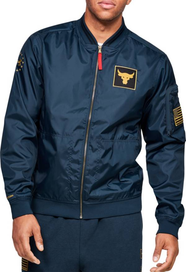 Under Armour Men's Project Rock Veteran's Day Bomber Jacket product image