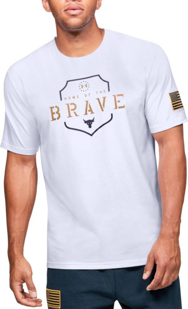 Under Armour Men's Project Rock Home Of The Brave Graphic T-Shirt (Regular and Big & Tall) product image