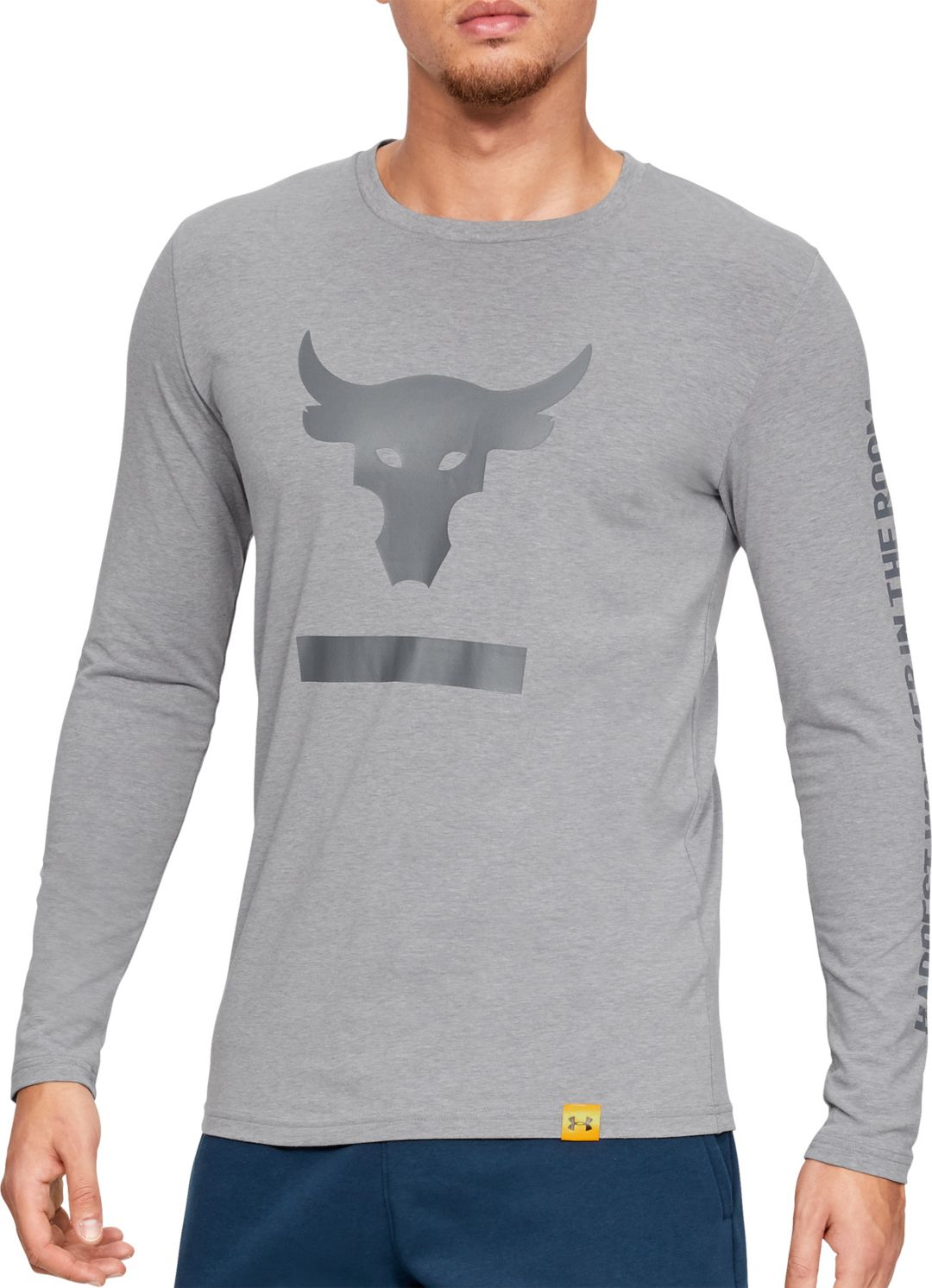 eed5408df Under Armour Men's Project Rock Hardest Worker Graphic Long Sleeve ...