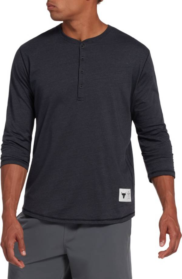 Under Armour Men's Project Rock Henley ¾ Sleeve Shirt product image