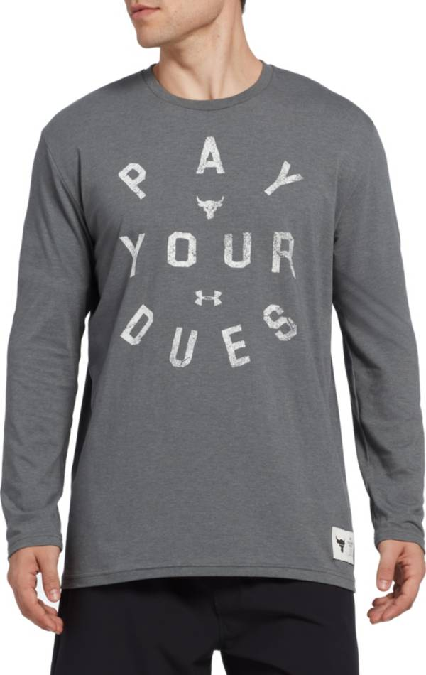 Under Armour Men's Project Rock Pay Your Dues Graphic Long Sleeve Shirt product image