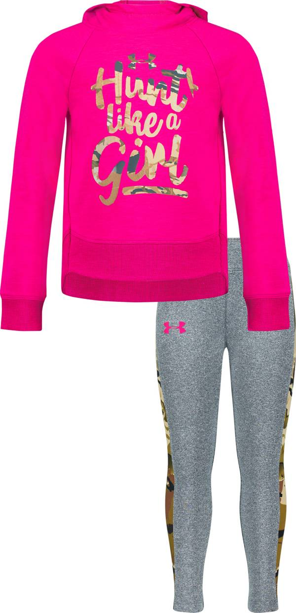Under Armour Girls' Toddler Hunt Like a Girl Hooded Shirt and Pants Set product image