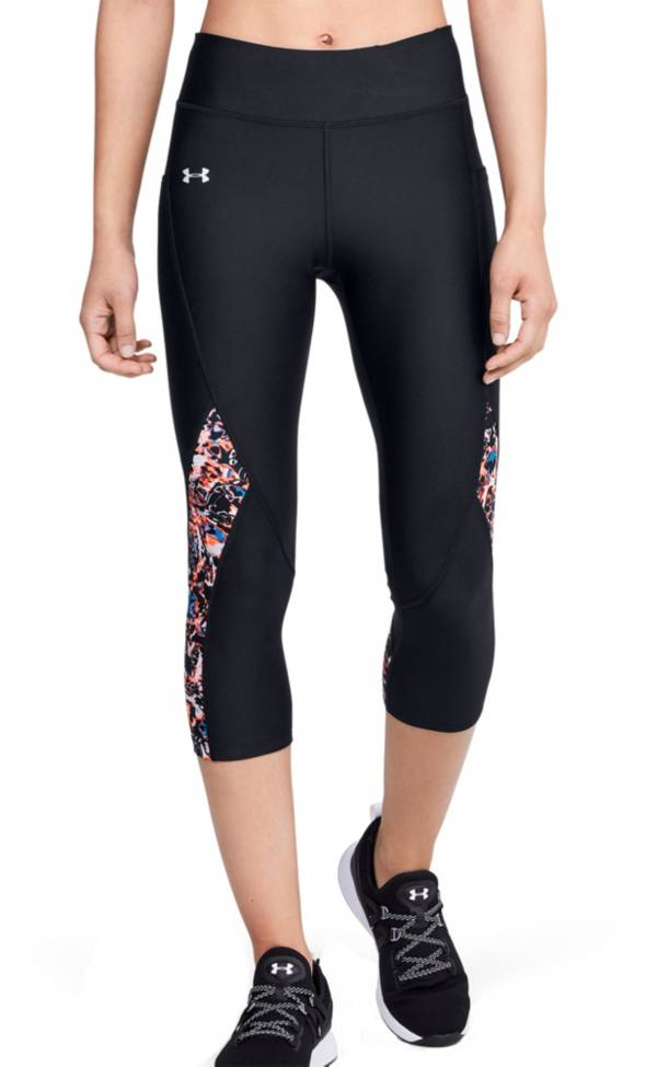 Under Armour Women's HeatGear Printed Inset Capris product image